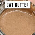 Granola butter in a jar