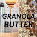 Steps for make granola butter