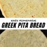 Steps for making Greek pita bread