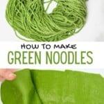 Green pasta and spaghetti