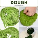 Steps to making green spinach pasta