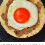 Making huevos rancheros in a pan