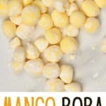 Raw mango tapioca pearls