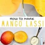 Ingredients to make mango lassi