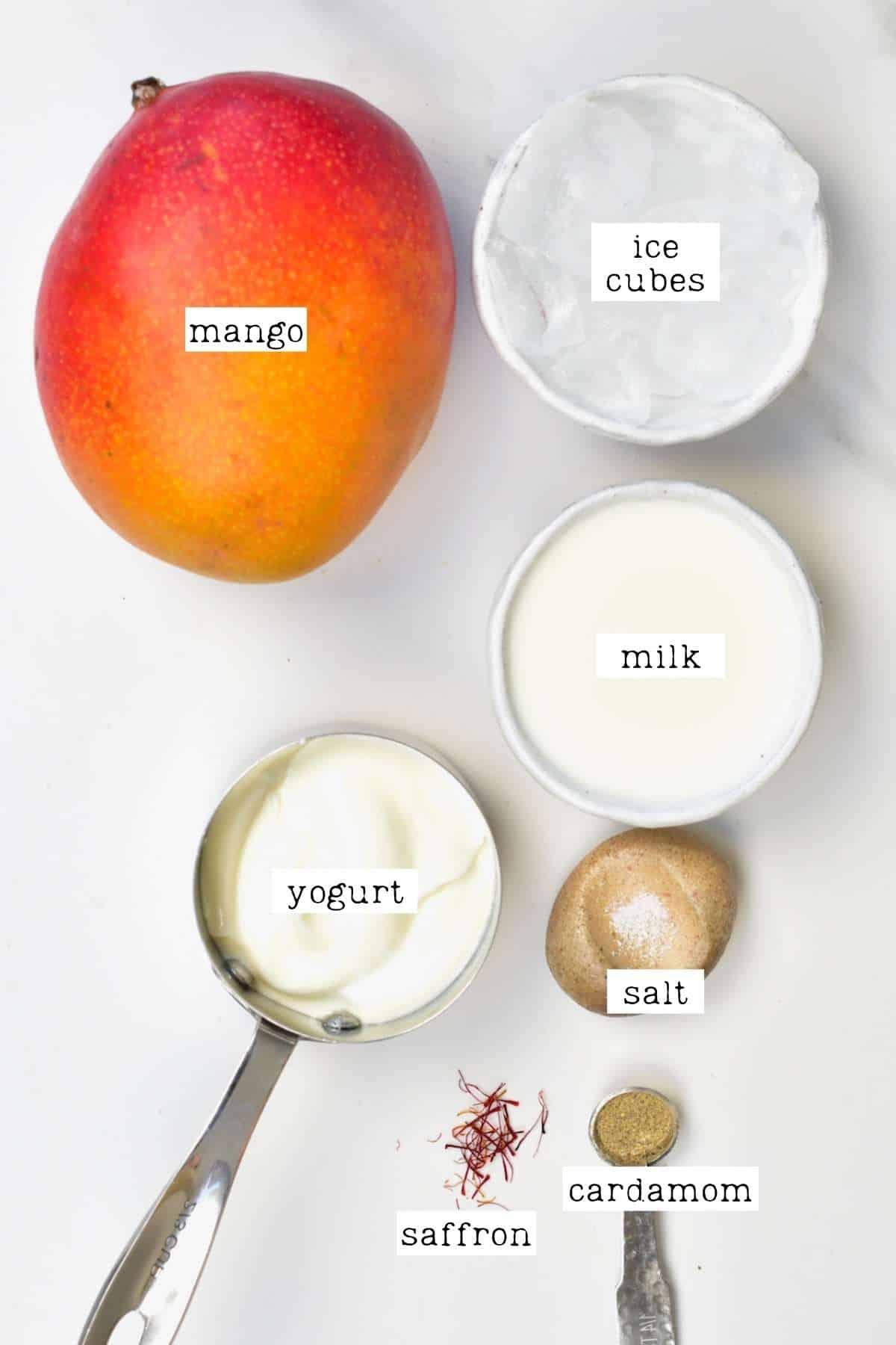Ingredients for mango lassi