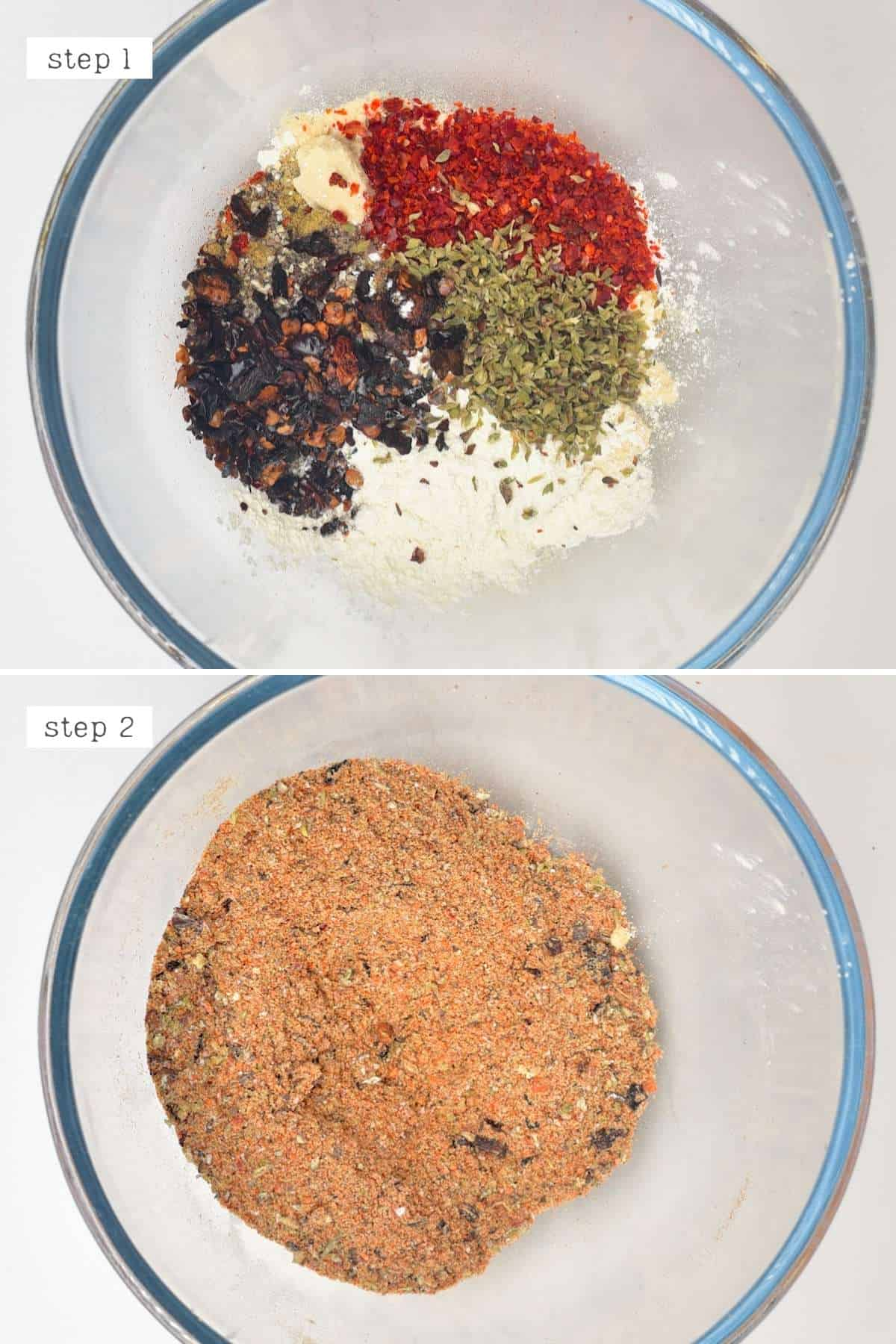 Steps for making Mexican spice blend