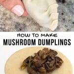 Making mushroom dumplings