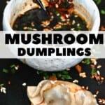 Dipping a dumplings in sauce