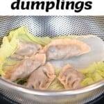 Mushroom dumplings in a steam basket