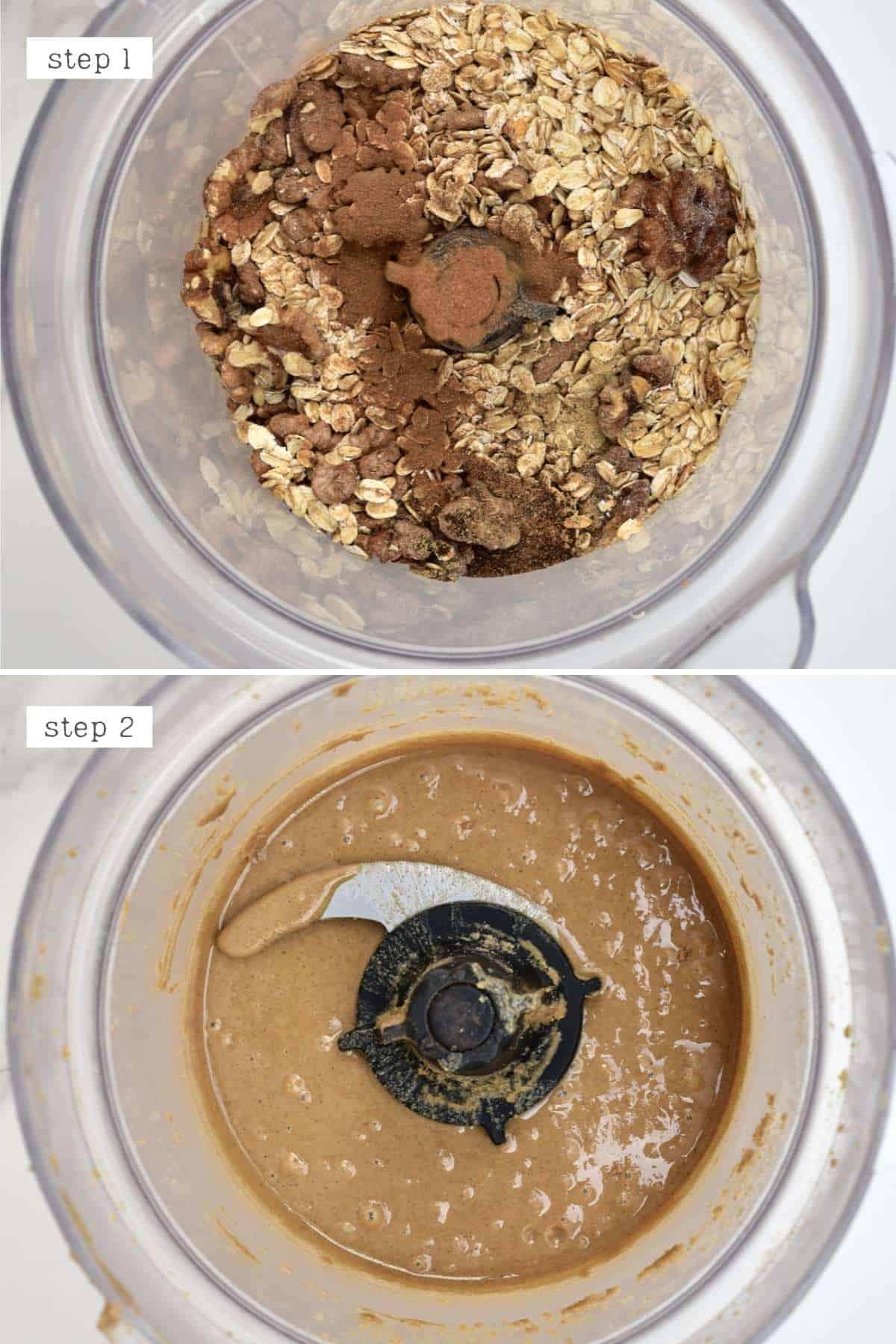 Steps for blending oatmeal butter