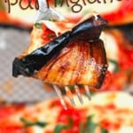 A forkful of eggplant parmigiana
