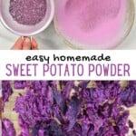 Steps to make purple sweet potato powder