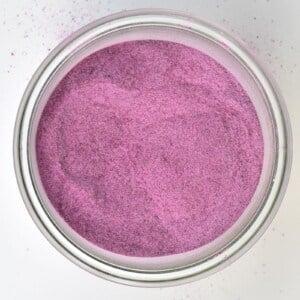 Purple potato powder in a little bowl