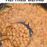 Mashing refried beans
