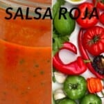 Steps for making salsa roja