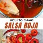 Ingredients to make salsa roja