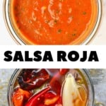 Making salsa roja