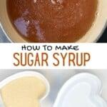 Ingredients to make Simple sugar syrup