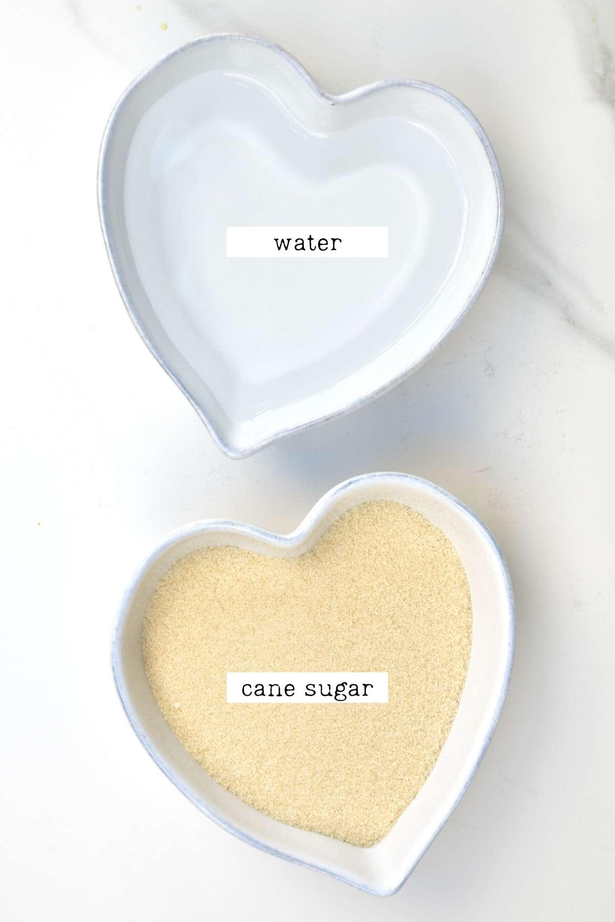 Ingredients for simple sugar syrup