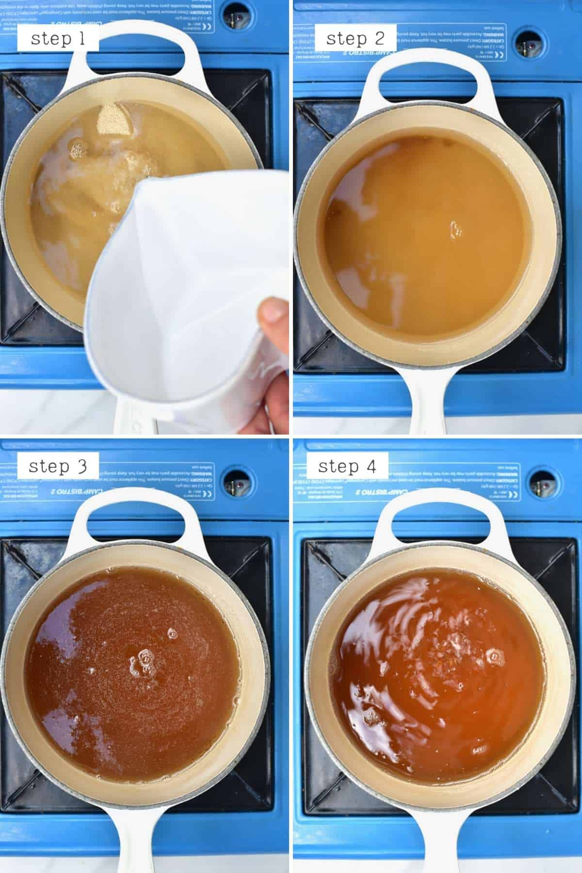 Steps for making sugar syrup