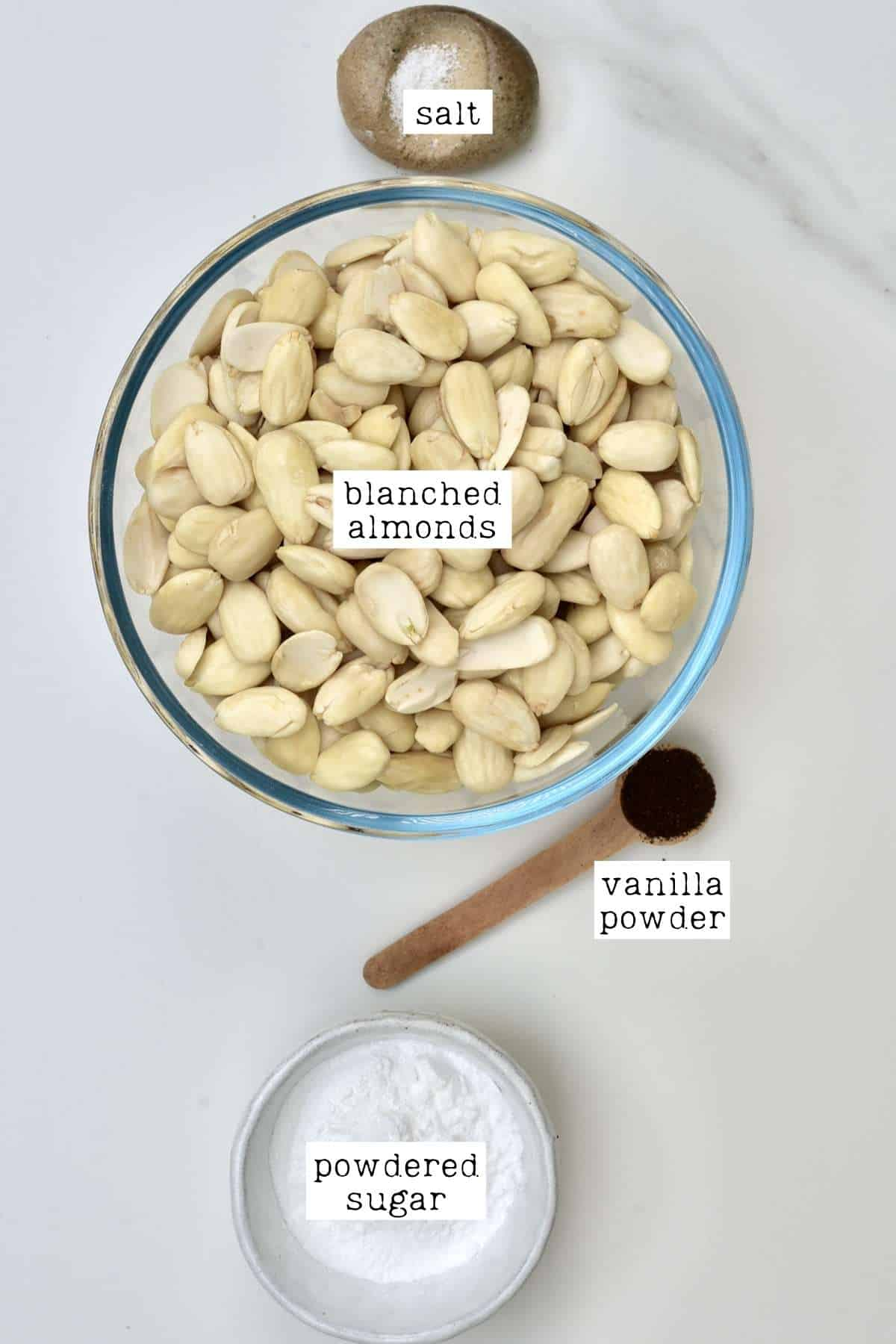 Ingredients for Sweet Almond Paste