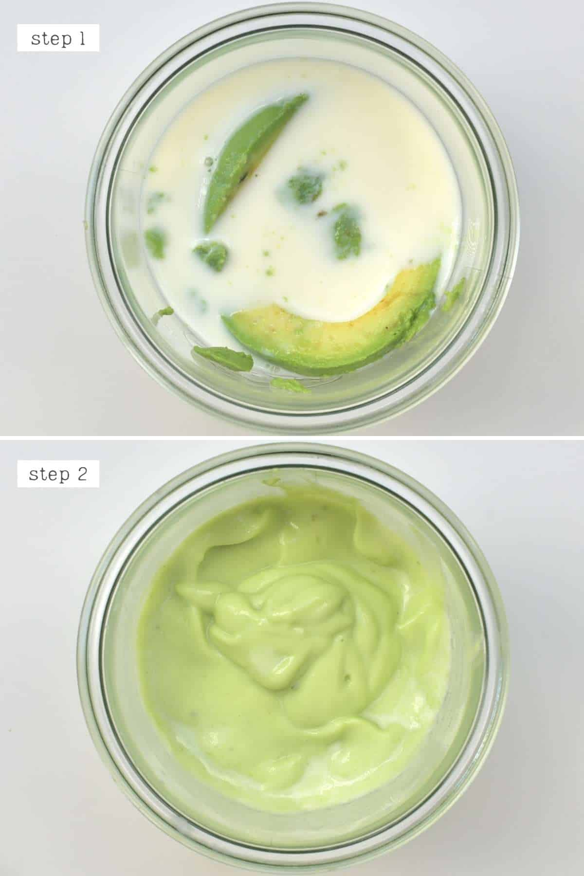 Steps for making sweet avocado drink