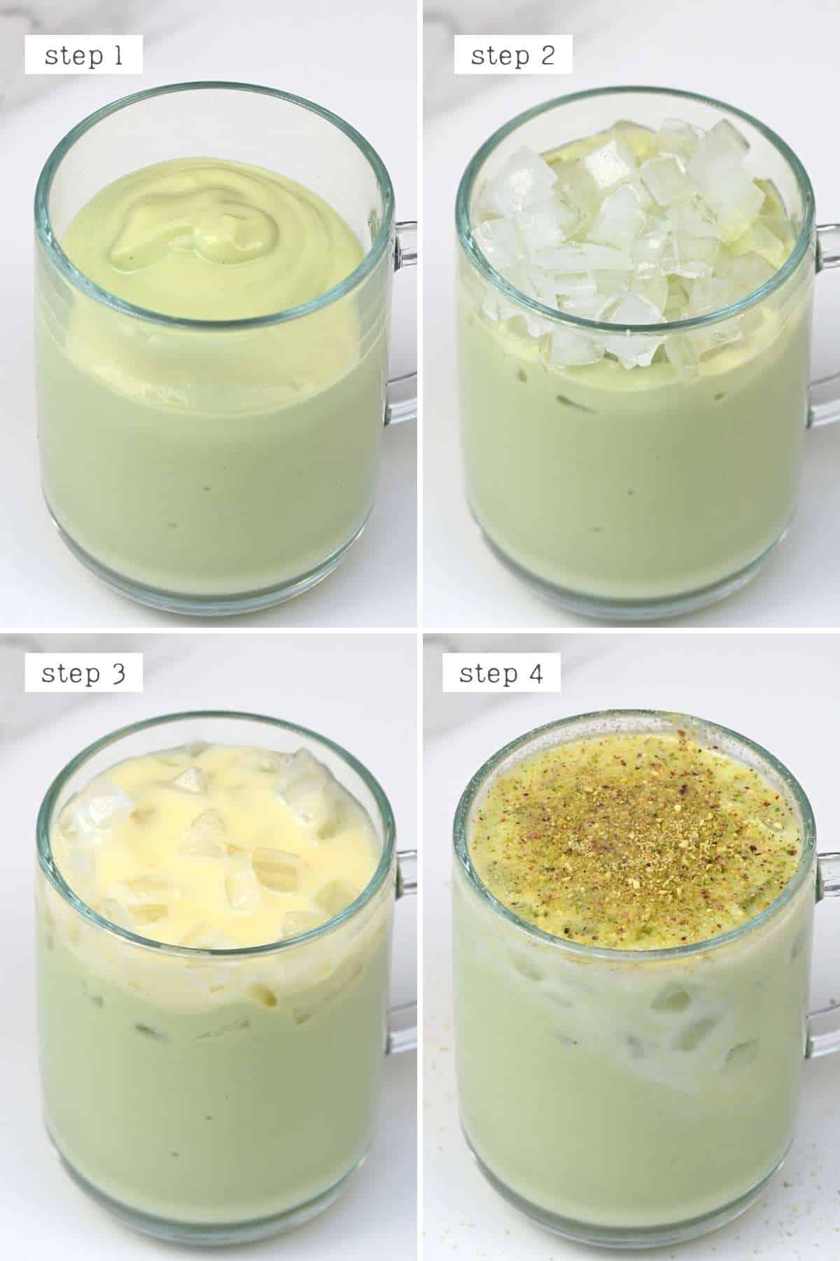 Steps for preparing avocado drink