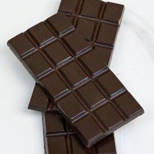 Three bars of dark chocolate