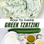Tzatziki Ingredients and the salad