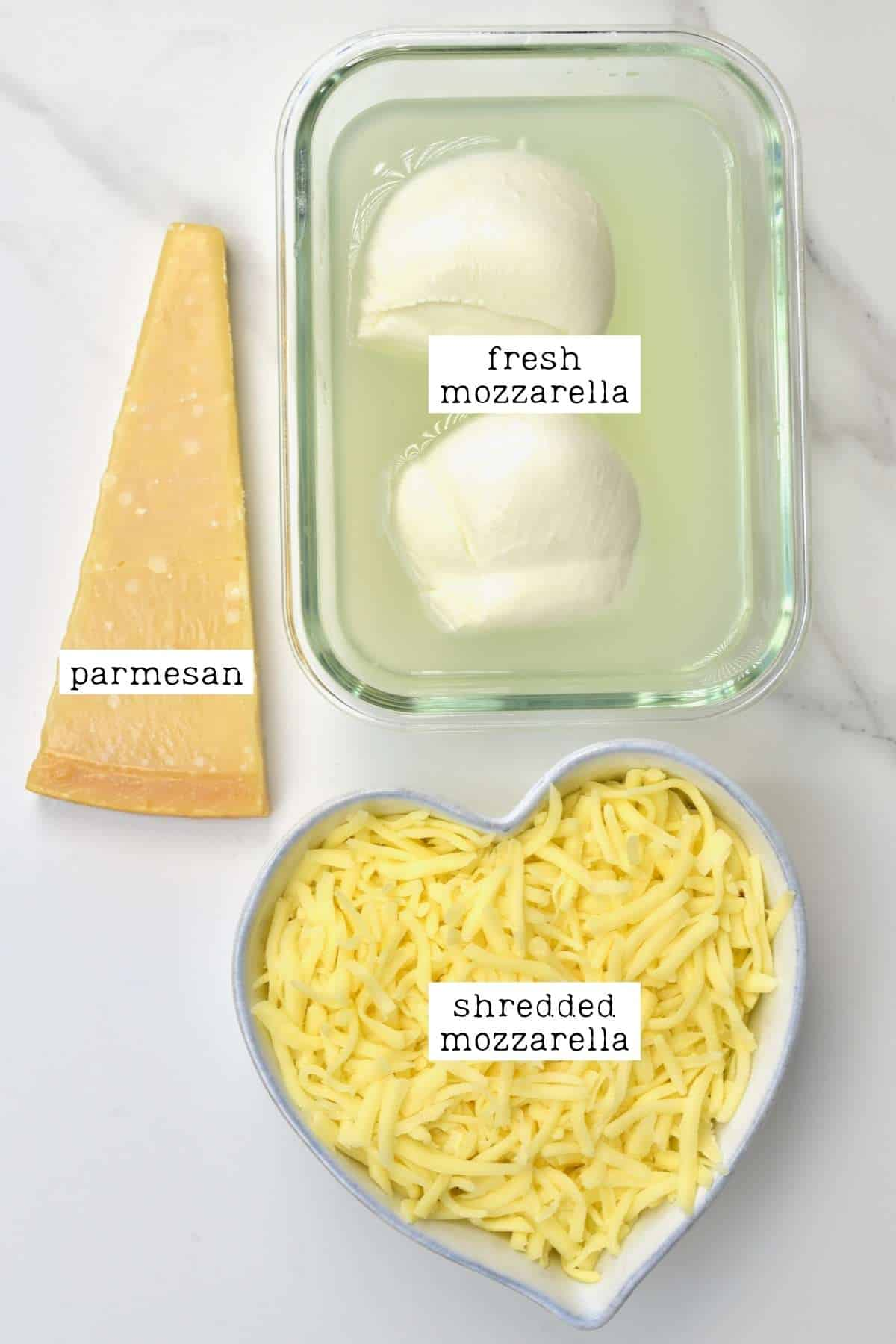 Different cheese types for lasagna