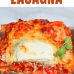 A slice of vegetarian lasagna