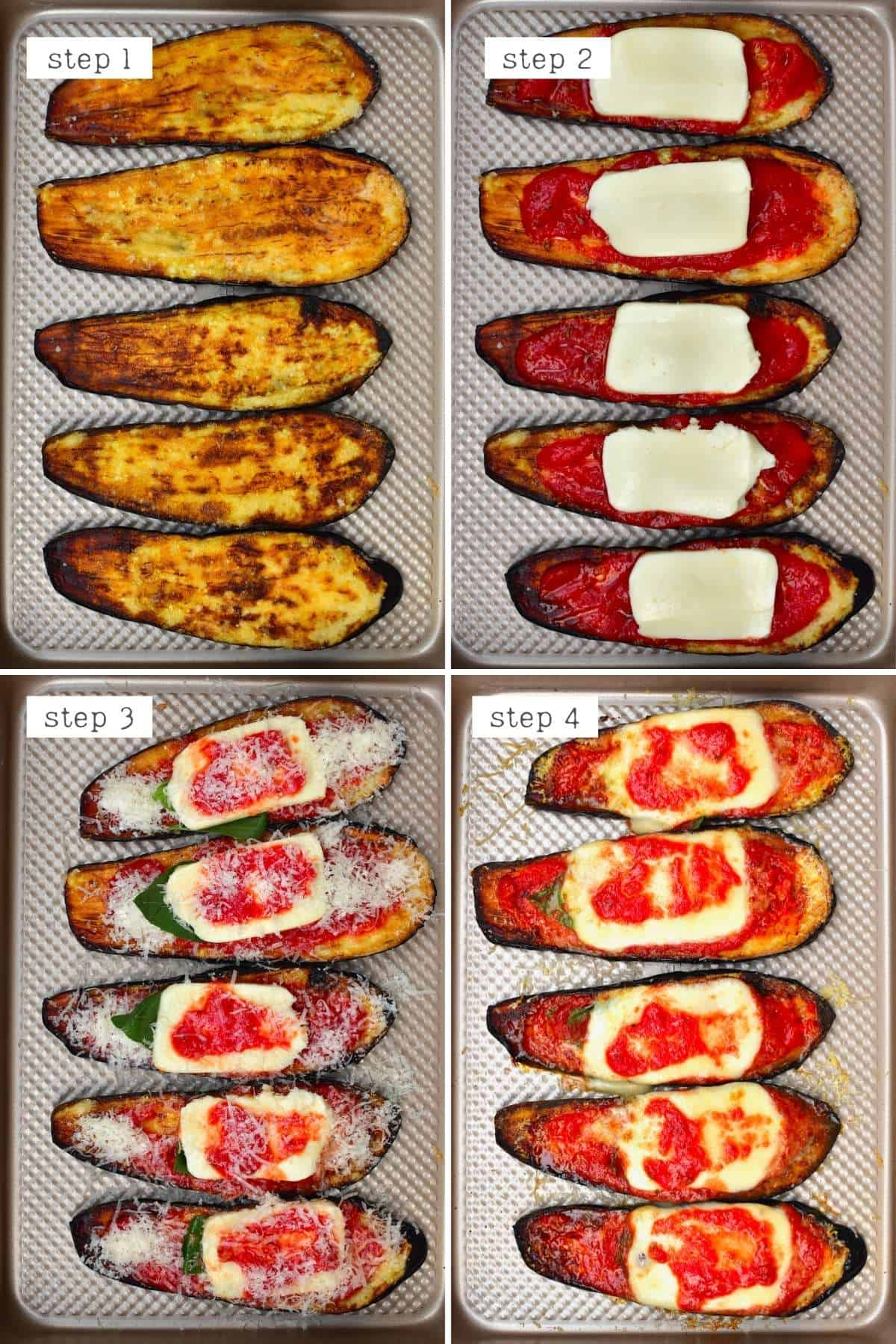 Steps for cooking simple parmigiana