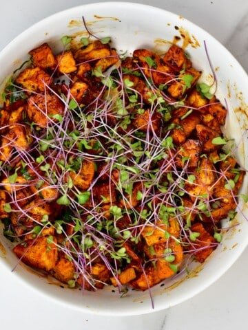 Sweet potato salad in a bowl