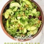 Celery apple salad in a bowl