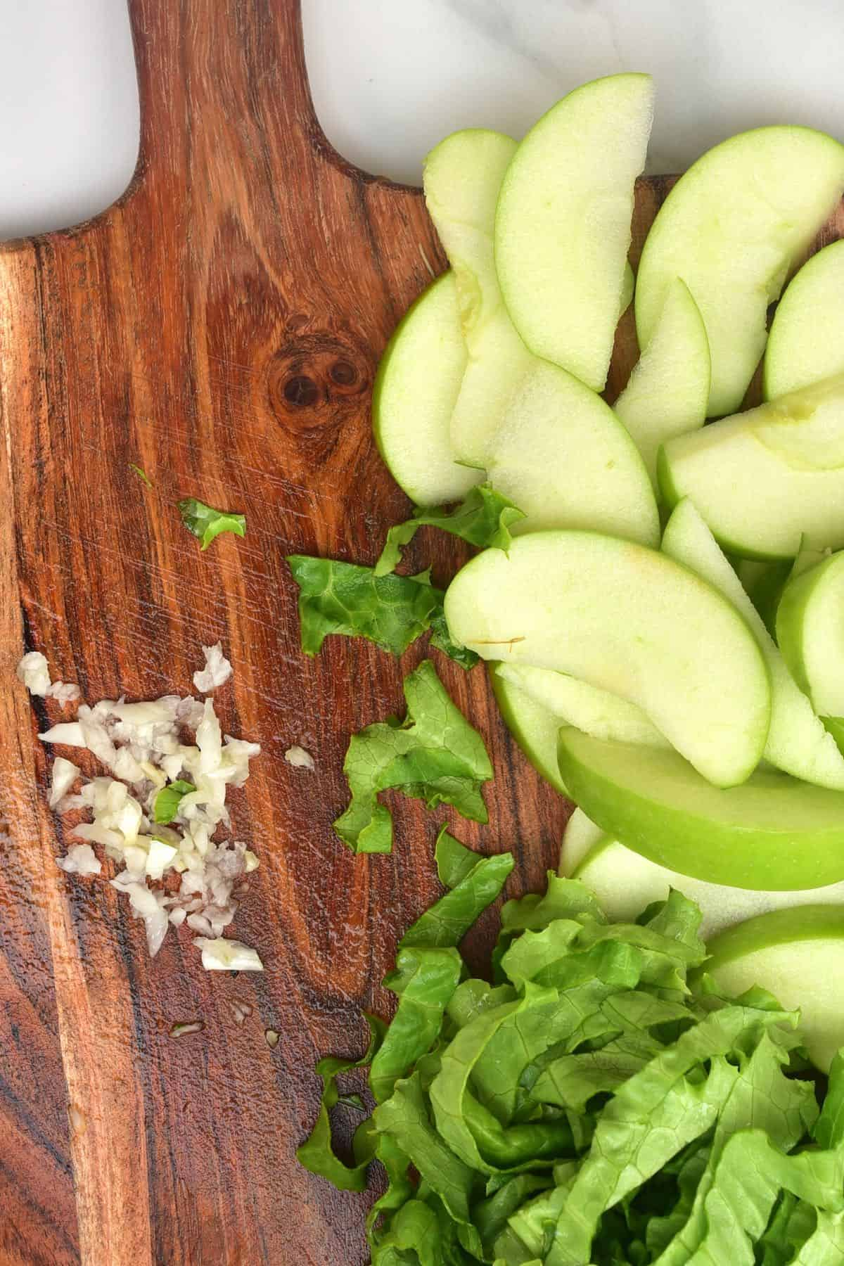 Choped apples