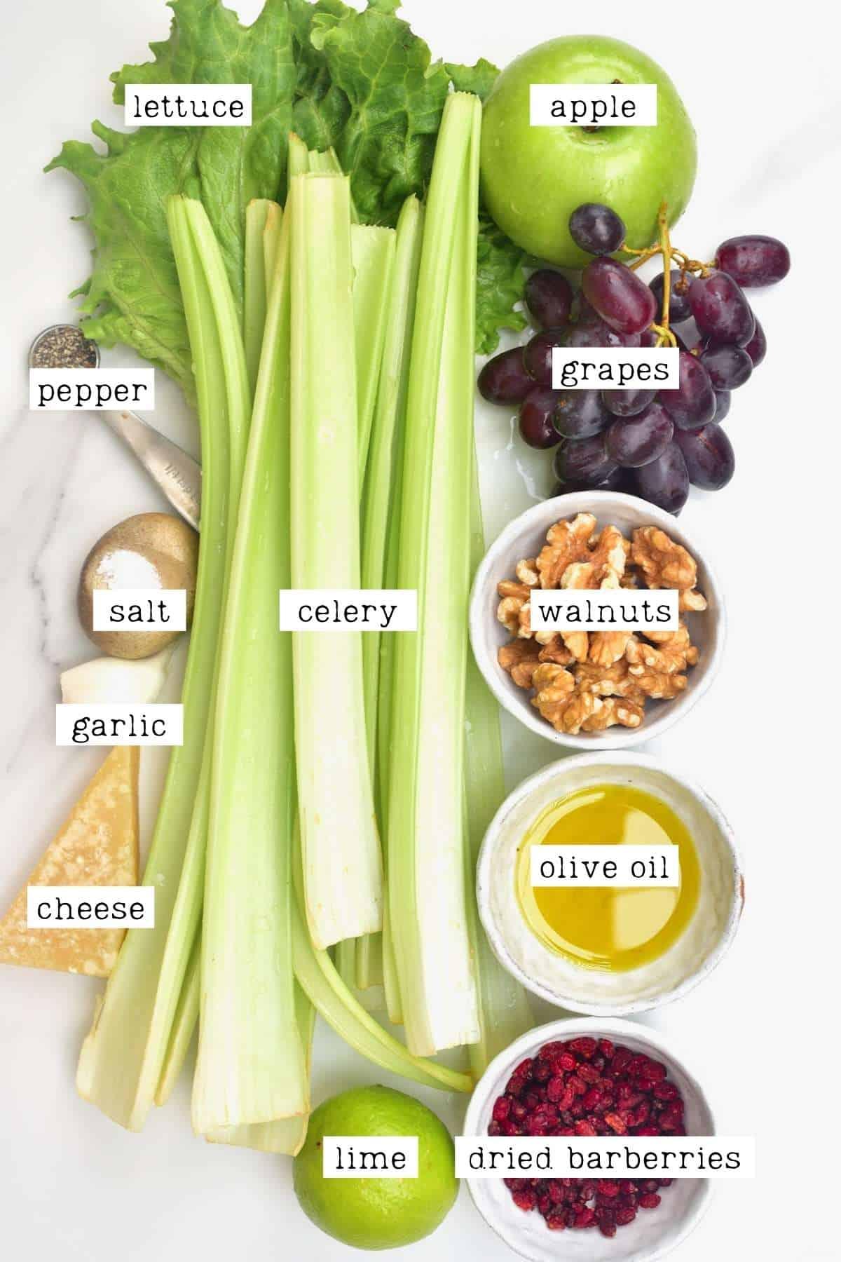 Ingredients for Celery Salad