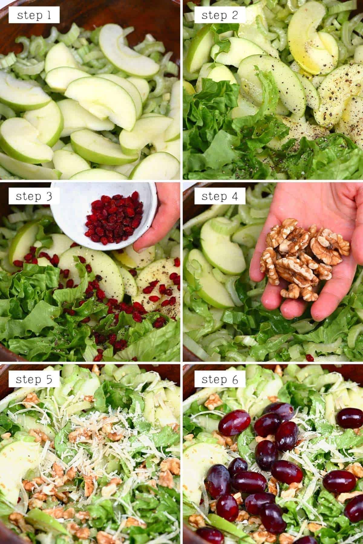 Steps for preparing celery salad