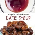 Steps to make date syrup