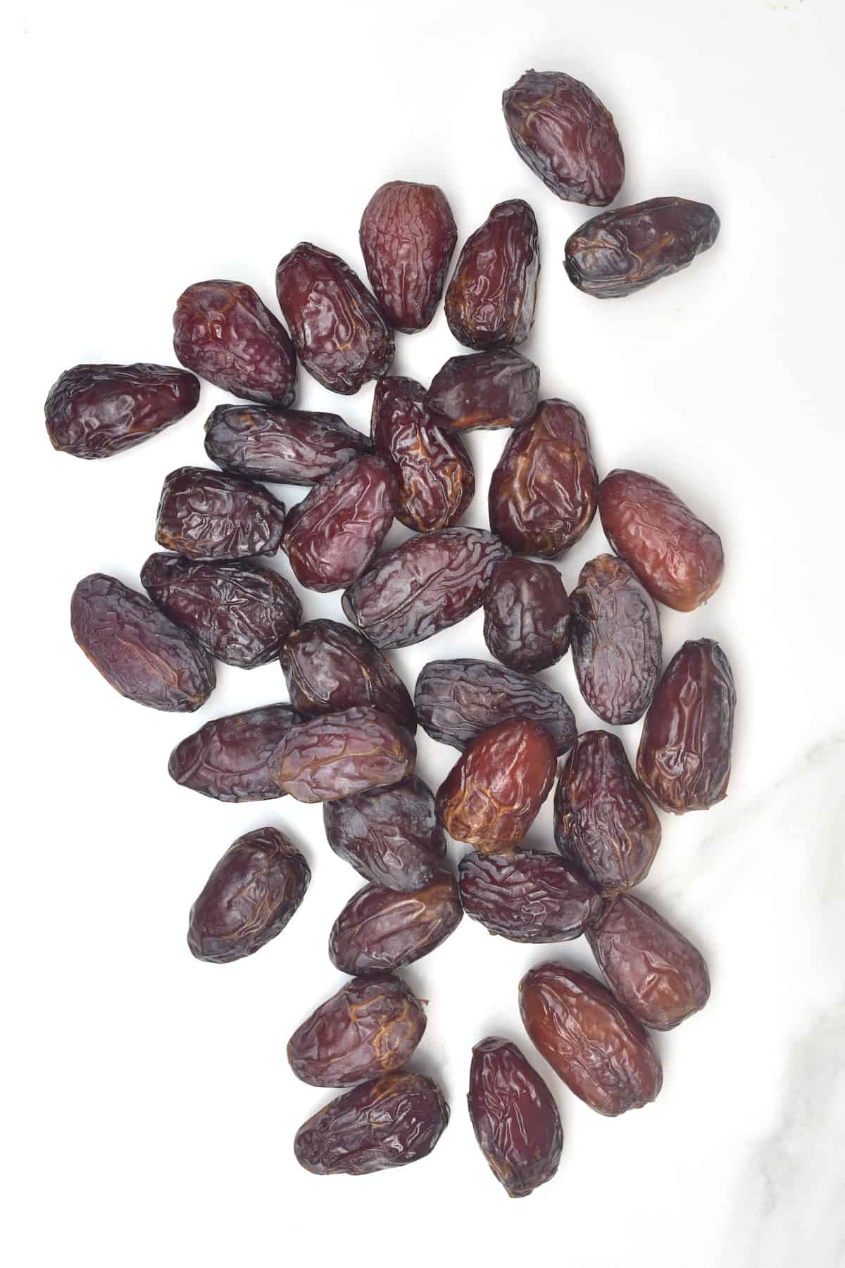 Dates on a flat surface