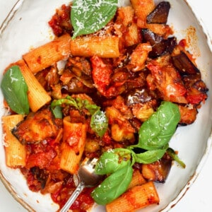 Tomato eggplant pasta alla norma