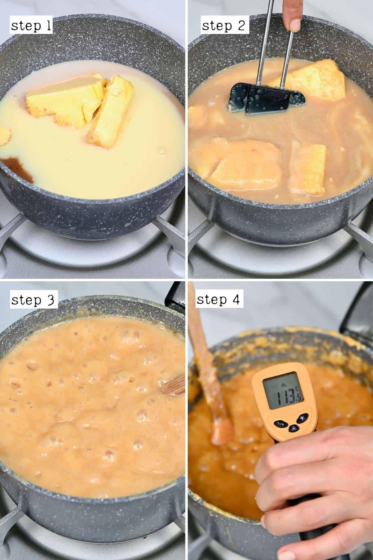 Steps for preparing fudge