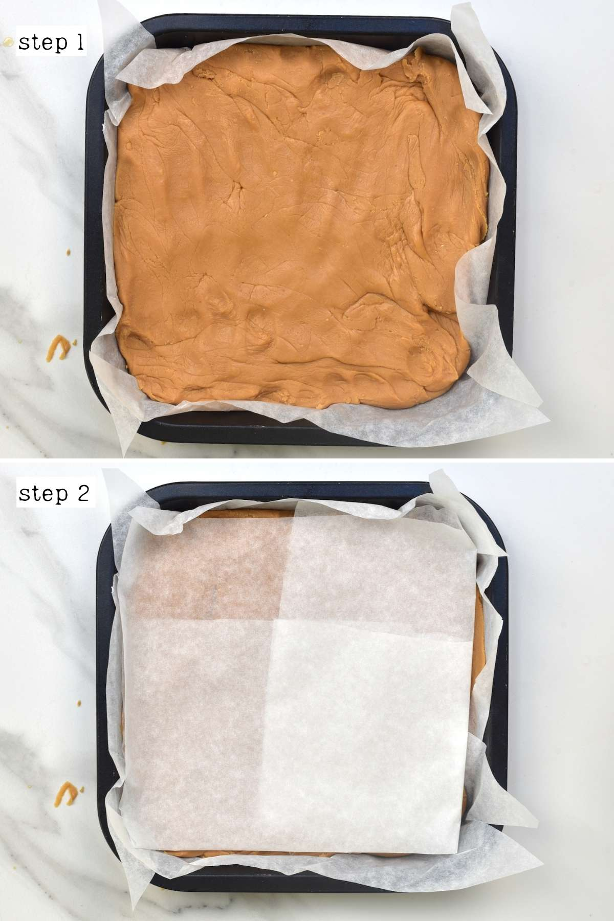Steps for shaping fudge