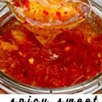 A spoonful of honey garlic chili dip