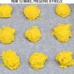 Ginger paste frozen in ball shape