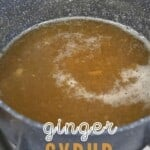 Ginger syrup in a pot