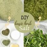 Ingredients to make herb salt