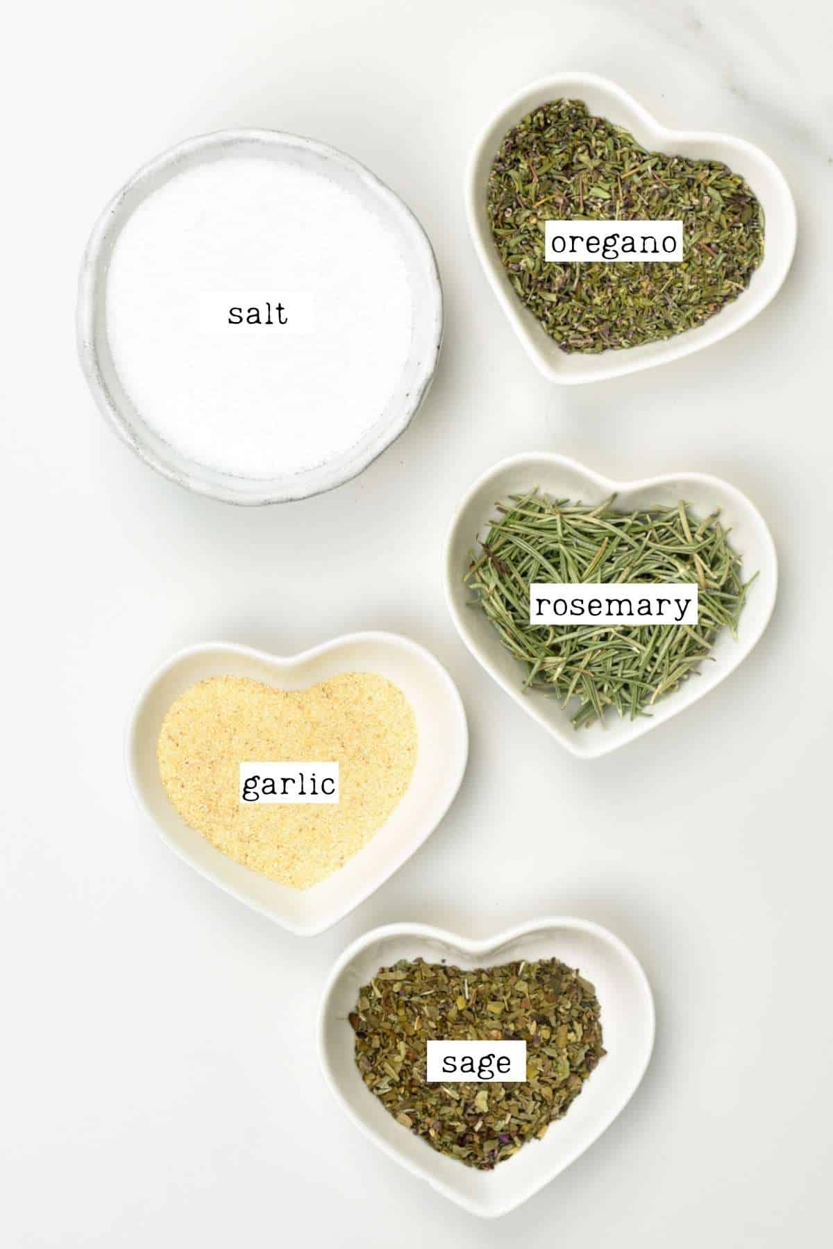 Ingredients for herb salt