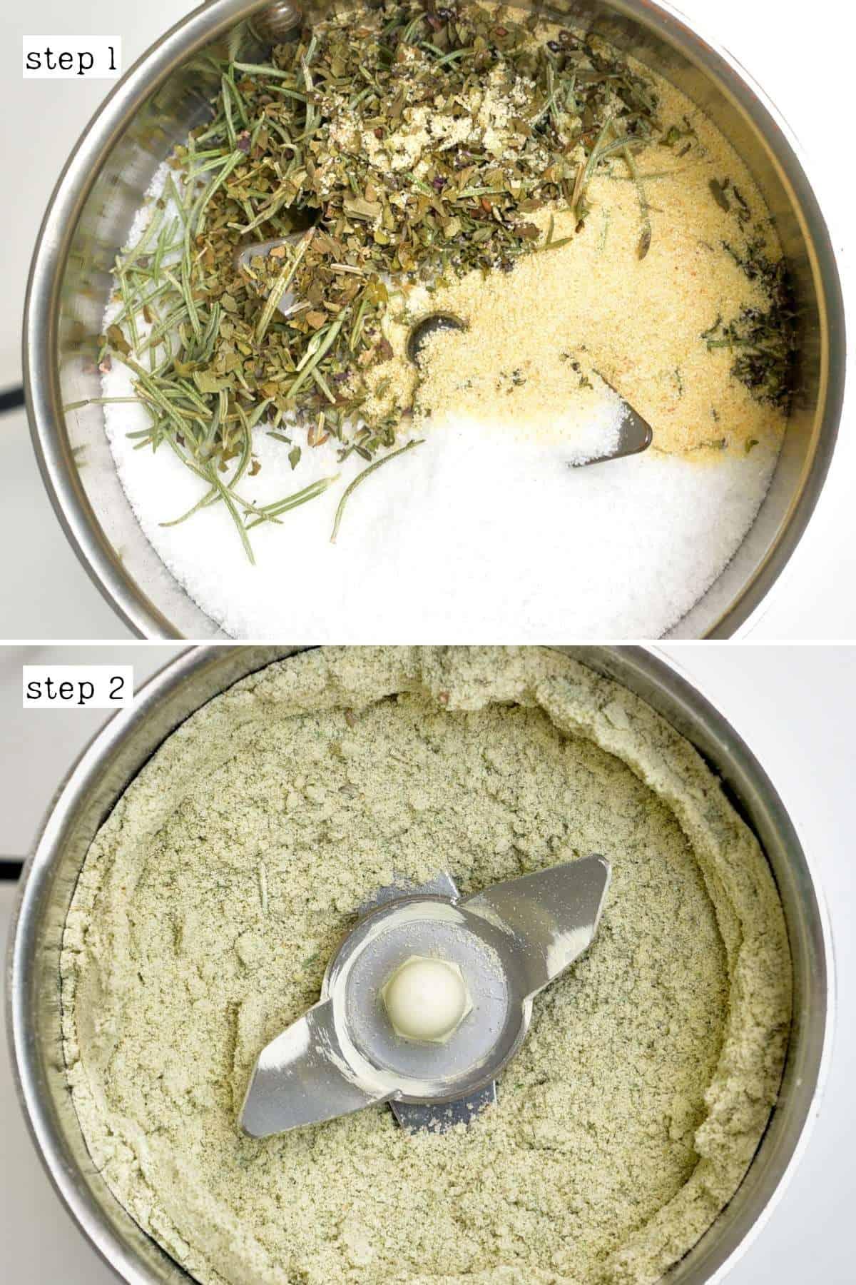 Steps for making herb salt