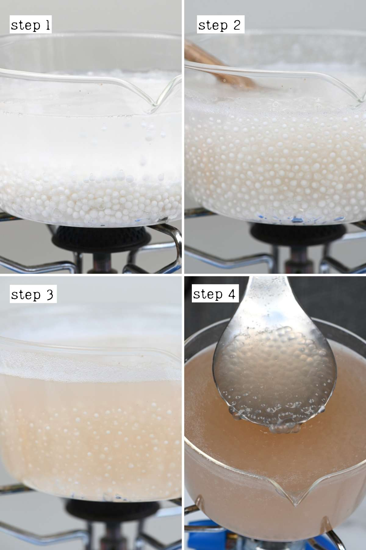 Steps for cooking sago pearls