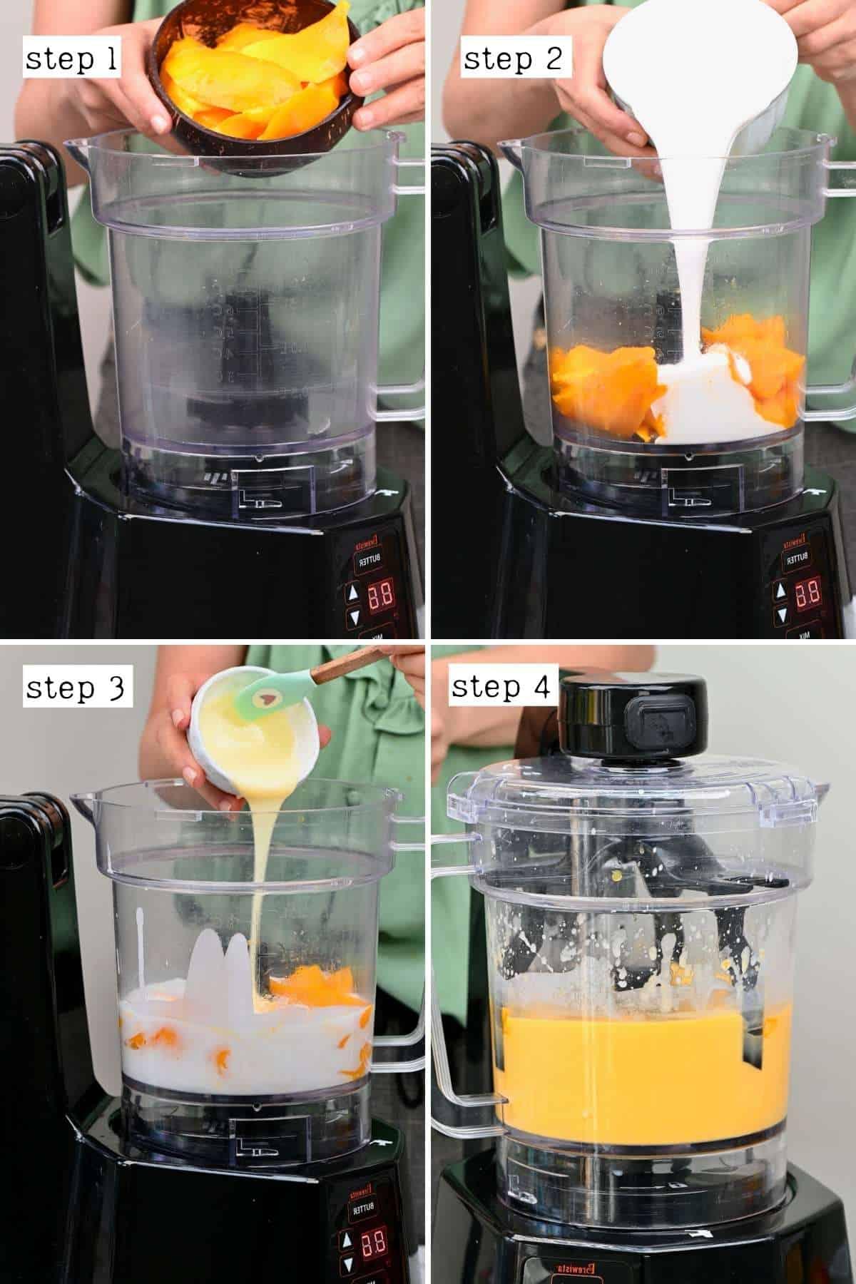 Steps for making mango sago